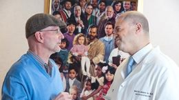 Dr. Avery with a patient